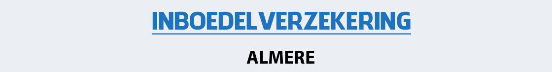 inboedelverzekering-almere