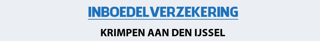 inboedelverzekering-krimpen-aan-den-ijssel